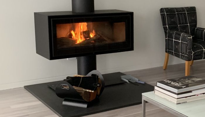 Black01 European wood fire for the cooler months with complimentary wood for burning